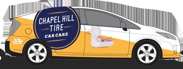 Yellow Navy Chapel Hill Tire Hybrid Shuttle Design
