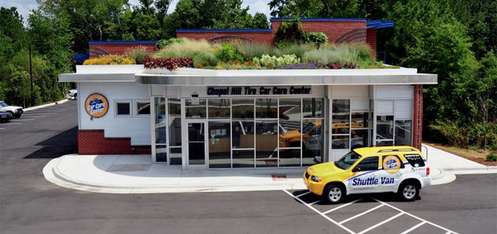 Photo of Green Rain Roof at Chapel Hill Tire Location