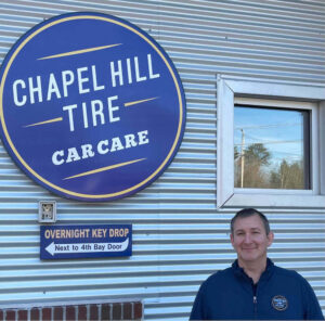 Troy Hamburg, manager at Chapel Hill Tire of Durham