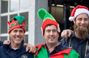 The Chapel Hill Tire team spreading Christmas Spirit