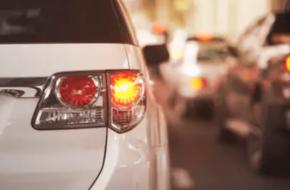 Vehicle using a turn signal