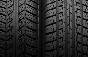 detail of different tire treads