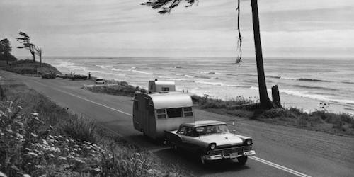 old car pulling a camper (1)
