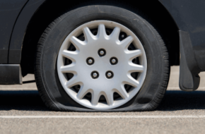 Picture of a flat tire